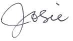 Josie's signature